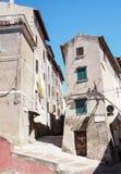 Città medievale di Norma in Italia Immagine Stock