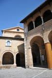 Città medievale di Offida in Italia centrale fotografie stock libere da diritti