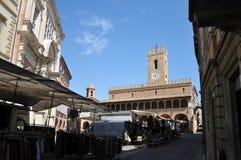 Città medievale di Offida in Italia centrale immagini stock libere da diritti