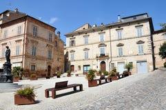 Città medievale di Offida in Italia centrale fotografia stock