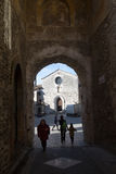 Città medievale di San Gemini in Italia Fotografie Stock