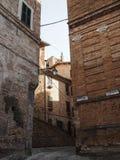 Città medievale di Sarnano in Italia Fotografie Stock