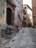 Città medievale di Sarnano in Italia Fotografia Stock Libera da Diritti