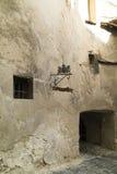 Città medievale di Sighisoara, Romania parete Immagine Stock
