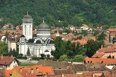 Città medioevale della cattedrale ortodossa di Sighisoara-The Fotografia Stock Libera da Diritti