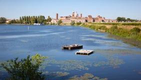 Città medioevale di Mantova, Italia Immagini Stock Libere da Diritti
