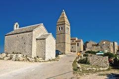 Città mediterranea di Lubenice, isola di Cres Fotografie Stock Libere da Diritti