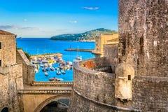 Città Mediterranea Ragusa in Croazia, Europa fotografia stock