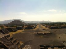 Città messicana antica di Teotihuacan (2) Fotografia Stock