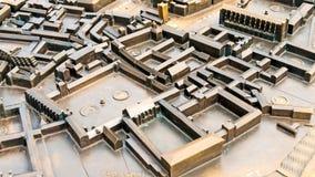 Città miniatura del metallo   Immagini Stock