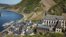 Città minuscola di Beilstein degli enologi Fotografia Stock Libera da Diritti