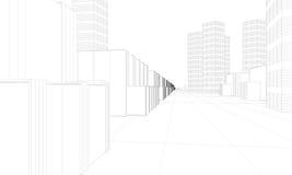 Città moderna illustrazione di stock