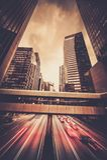 Città moderna alla notte fotografia stock libera da diritti