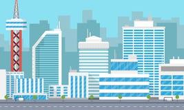 Città moderna del fondo Immagine Stock