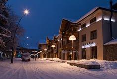 Città moderna della via di sera in Georgia Immagine Stock