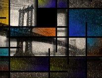 Città moderna di Art Inspired Landscape New York Fotografia Stock Libera da Diritti