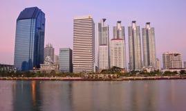 Città moderna di Bangkok Immagini Stock