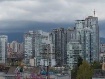 Città moderna Vancouver Canada di sviluppo di concetto Fotografia Stock Libera da Diritti