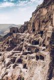 Città-monastero della caverna di Vardzia Fotografie Stock