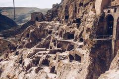 Città-monastero della caverna di Vardzia Fotografia Stock Libera da Diritti