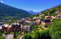 Città in montagne di Alpes, Provenza, Francia di Briancon Immagine Stock