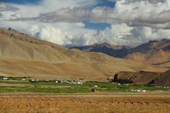 Città montagnosa del plateau Fotografie Stock Libere da Diritti