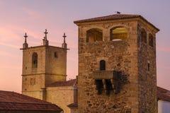 Città monumentale Estremadura Spagna di Caceres Immagini Stock