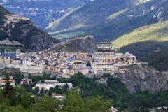 Città murata di Briancon in valle di Hautes-Alpes, Francia Fotografie Stock