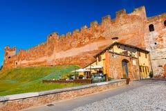 Città murata medioevale Castelfranco Veneto, Italia fotografia stock libera da diritti
