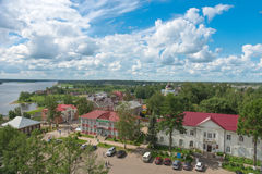 Città Myškin ed il fiume Volga Immagini Stock Libere da Diritti