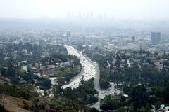 Città in nebbia Fotografia Stock