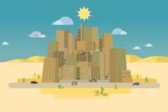 Città nel deserto Immagini Stock Libere da Diritti