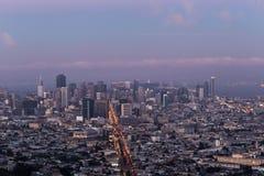 Città nel rosa Fotografie Stock
