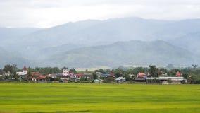 Città nell'azienda agricola del riso Immagini Stock Libere da Diritti