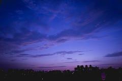 Città nella notte Fotografia Stock