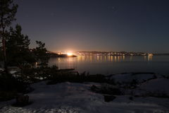 Città nella notte Fotografie Stock Libere da Diritti