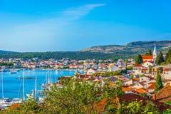 Città nella regione della Dalmazia, Croazia di Rogoznica Immagine Stock