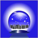 città nella sfera di vetro illustrazione di stock