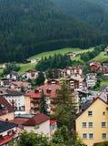 Città nelle alpi Fotografia Stock