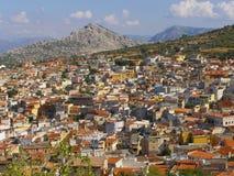 Città nelle montagne Fotografie Stock Libere da Diritti
