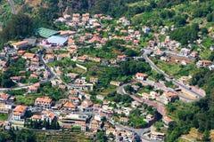 Città nelle montagne Immagine Stock Libera da Diritti