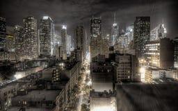Città nello stile noir immagini stock libere da diritti