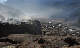 Città nepalese Manang dell'alta montagna Immagine Stock