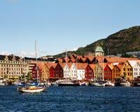 Città norvegese Immagini Stock
