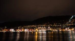 Città norvegese Bergen fotografia stock libera da diritti