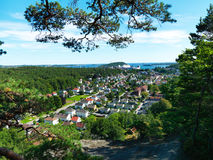 Città norvegese, Kristiansand Fotografia Stock Libera da Diritti