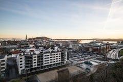 Città norvegese Kristiansand Immagini Stock Libere da Diritti
