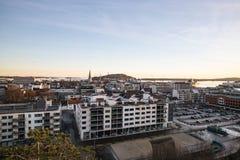 Città norvegese Kristiansand Fotografia Stock Libera da Diritti