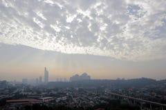 Città nuvolosa Fotografia Stock Libera da Diritti