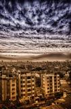 Città nuvolosa Fotografia Stock